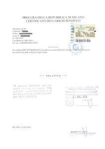 certificato carichi pendenti